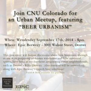 Please join us this Wednesday, September 17th, at 5pm for our monthly urban meetup