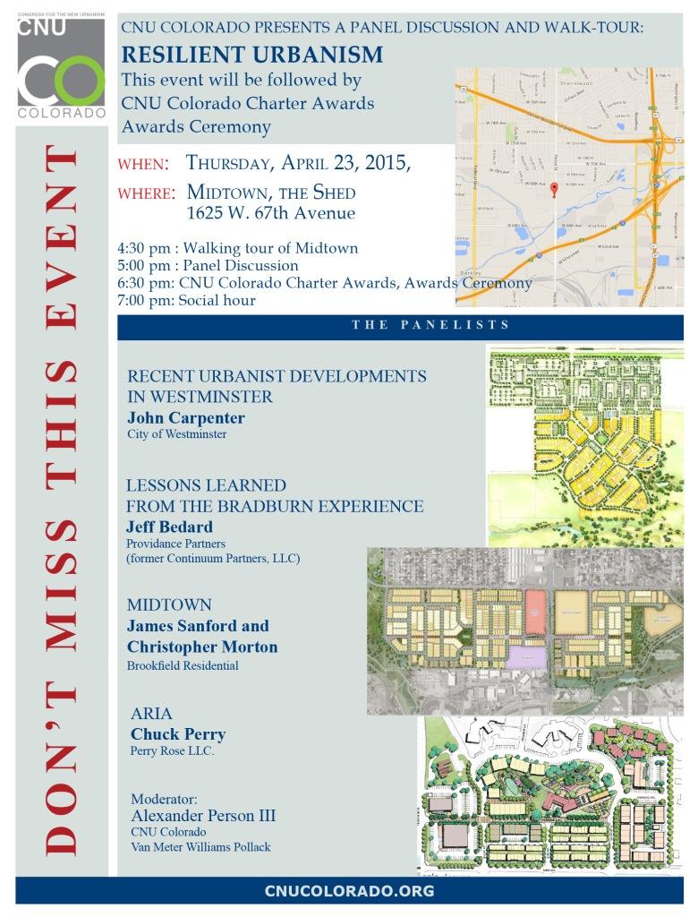 Resilient Urbanism event flyer